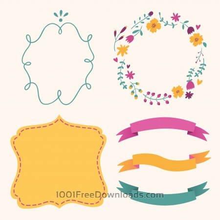 Free Cute frames vector set
