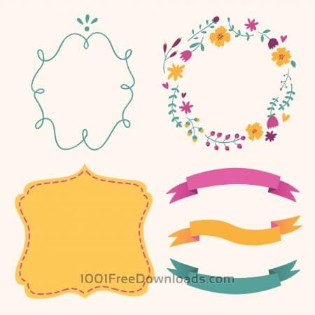 Free Cute frames vector set