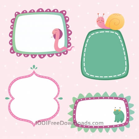 Free Cute frames set