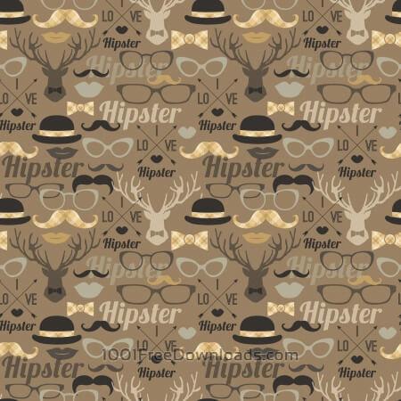 Free Hipster seamless pattern.