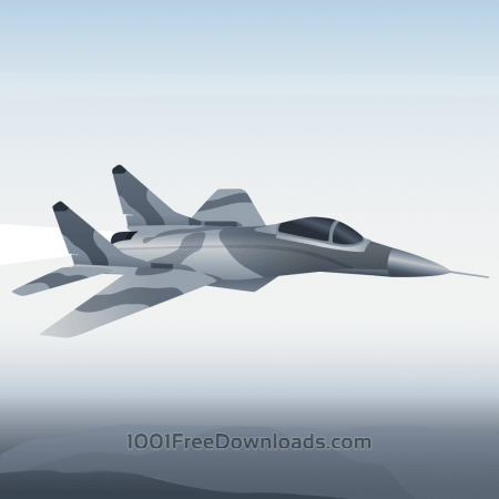 Free Vector illustration Military aircraft