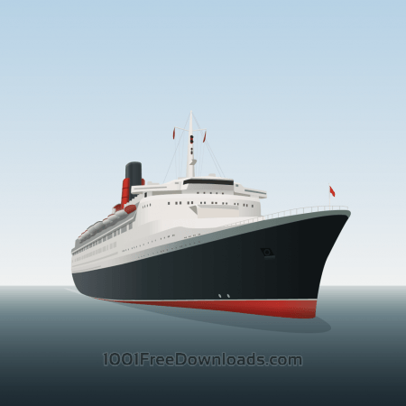 Free Vector illustration Ocean liner