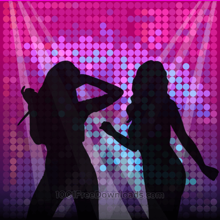 Free Vector illustration Disco lights