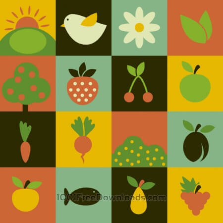 Free Food flat vector icons