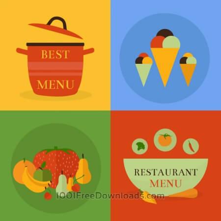 Free Food icon concept