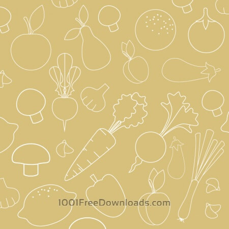 Free Seamless pattern with food vegetables elements