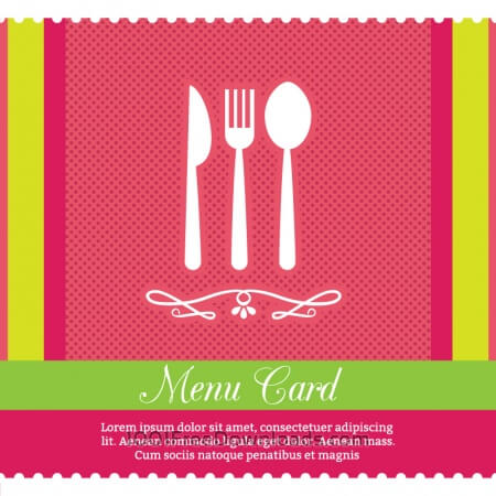 Free Restaurant Menu Card Design Template