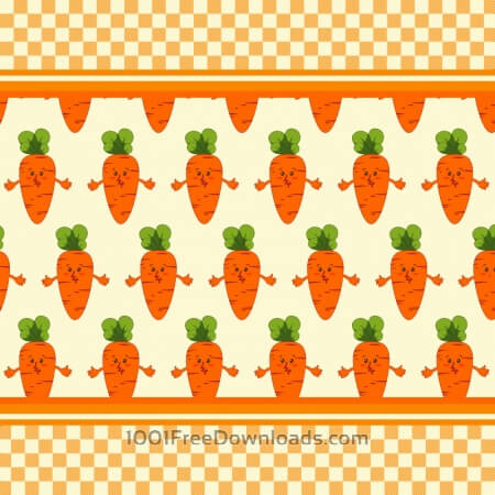 Free Carrot vector illustration, pattern