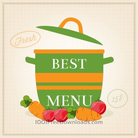 Free Vegetarian restaurant illustration