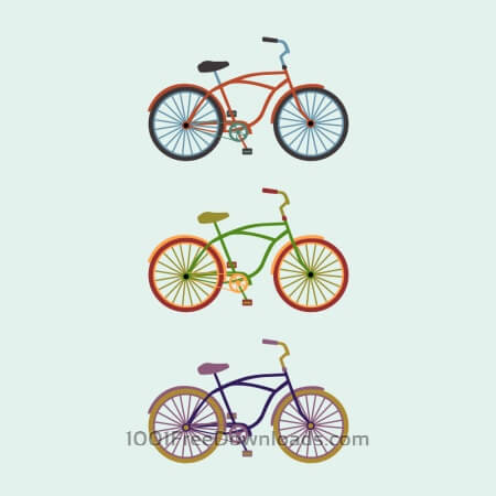 Free Colorful Bikes