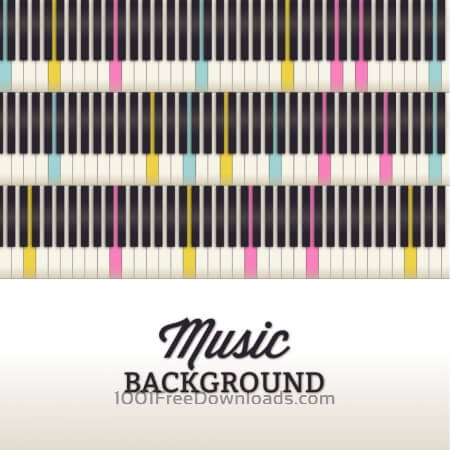 Free Music illustration with piano keyboard
