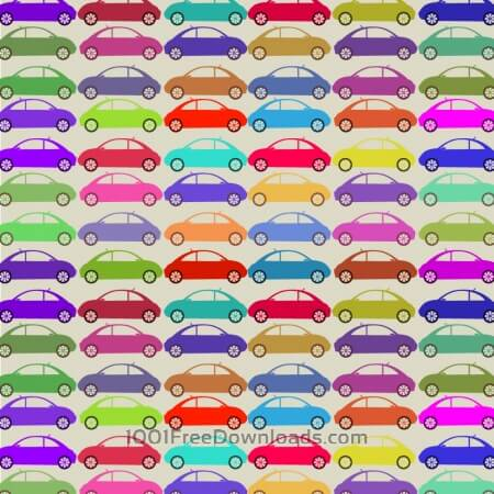 Free Retro pattern with cars