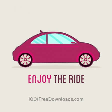 Free Flat car vector illustration