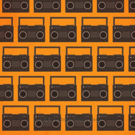 Free Music pattern with radio