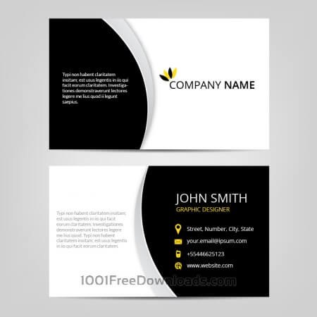 Free Vector abstract business cards