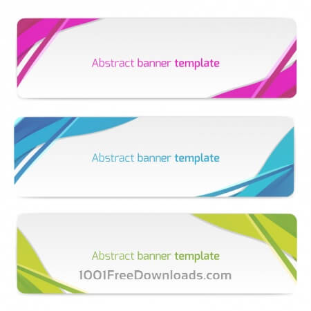 Free Abstract vector banners