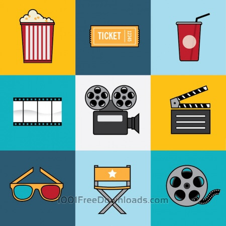 Free Movie and Film Industry Icon Set