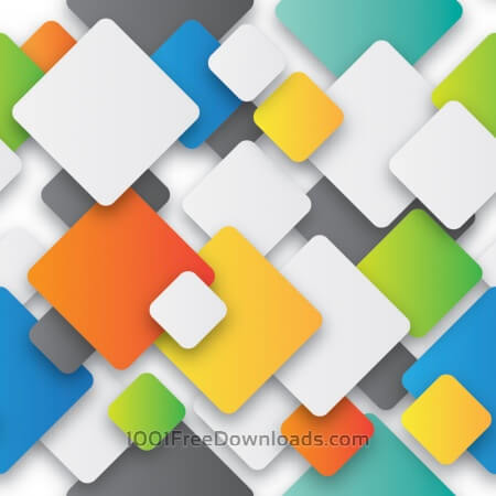 Free Squares With Rounded Corners Colorful Repeating Pattern