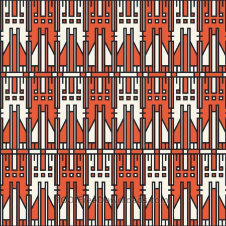 Free Tech style white and orange geometric pattern