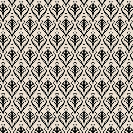Free Vintage Ornate Black and Cream Pattern