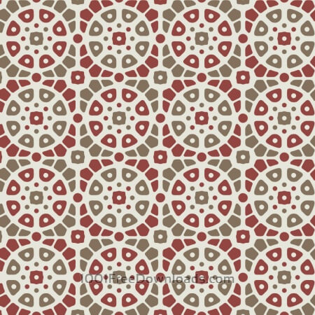 Free Mosaic Red and Green Pattern