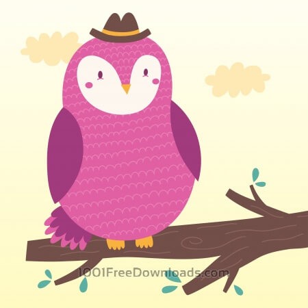 Free Vector illustration of the owl
