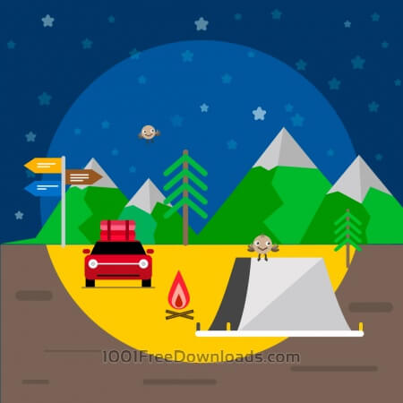 Free Travel illustration for free graphic design. Simple flat vector