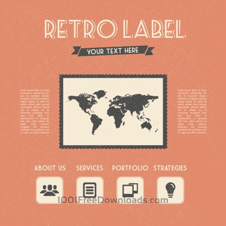 Free Retro Label
