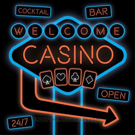 Free Casino Neon Sign