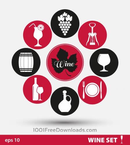 Free Wine set of icons