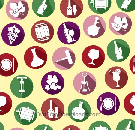 Free Seamless pattern of wine. Vintage style.