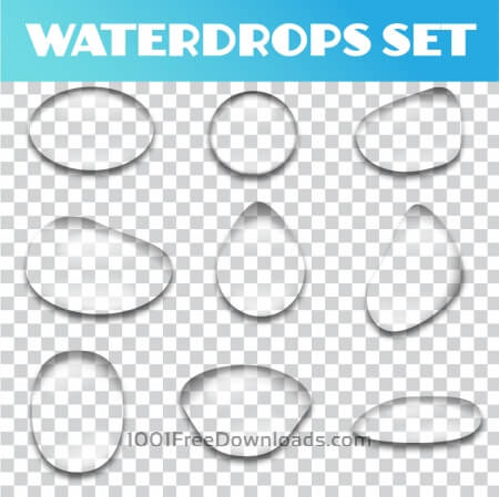 Free Water drops vector set