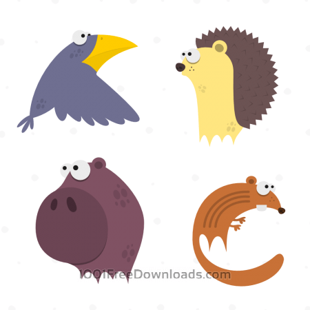 Free Cute Animals Vector Set 6
