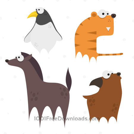 Free Cute Animals Vector Set 9