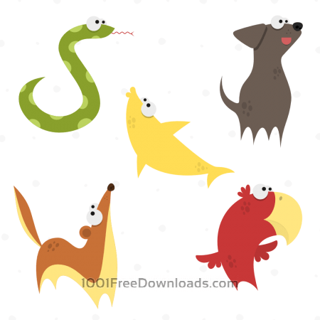 Free Cute Animals Vector Set 3