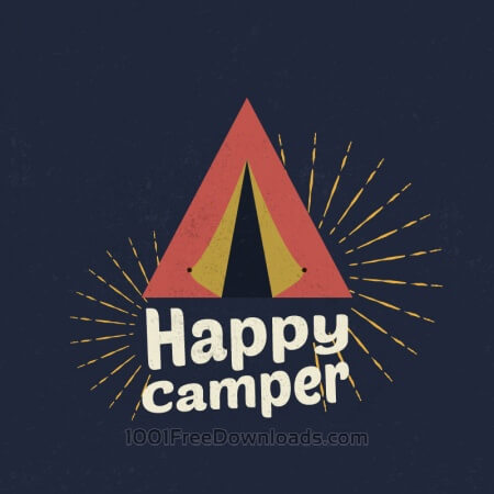 Free Happy Camper Illustration