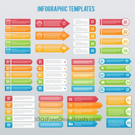 Free Infographics templates set