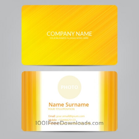 Free Orange business card