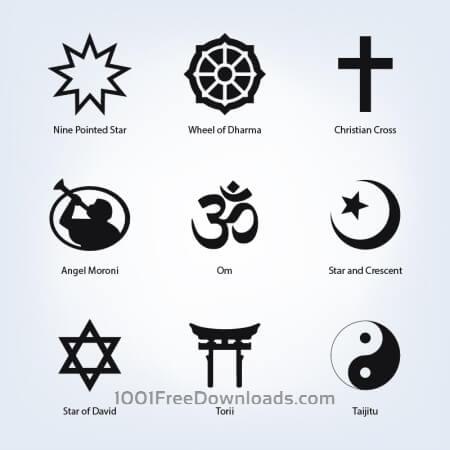 Free Set of religious symbols