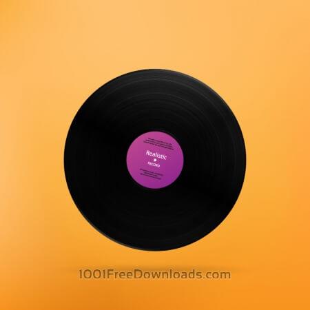 Free Realistic Vinyl Record