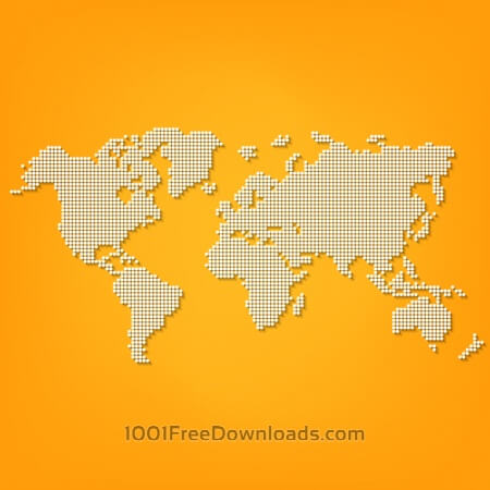 Free Vector Dotted World Map