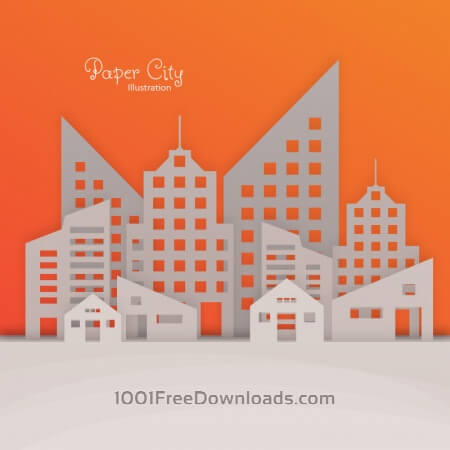 Free Paper City Illustration