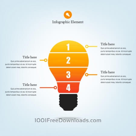Free Lightbulb Infographic