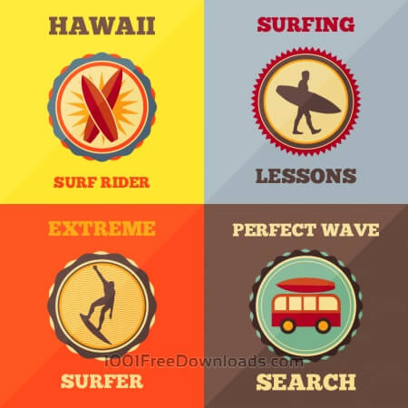 Free Surfing Icon Set