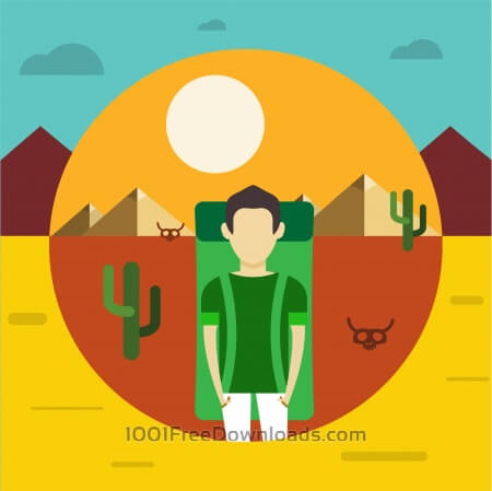 Free Free vector illustration with some man - travel