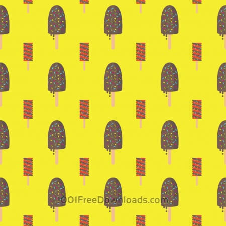 Free Ice Cream Pattern Background