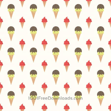 Free Ice Cream Pattern Background