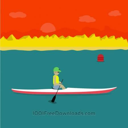 Free Kayak Illustration