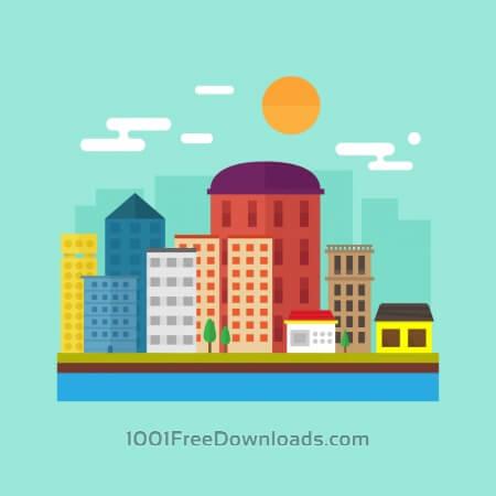 Free Skyline Illustration