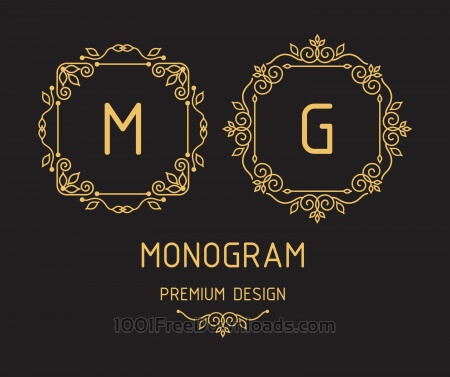Free Monogram design templates